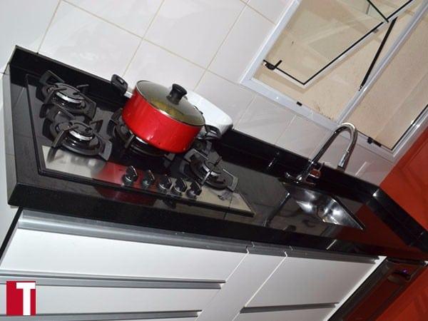 Bancada Cozinha Granito Preto Absoluto