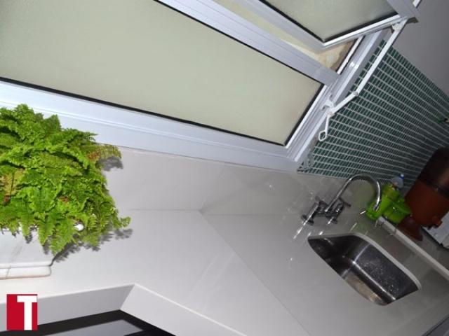 Bancada Cozinha Material Industrializado Branco Prime