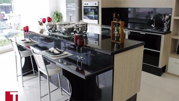 Cozinha em Granito Preto São Gabriel