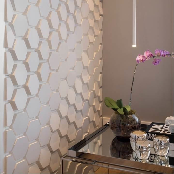 Cimentício Castelatto polygon paris branco