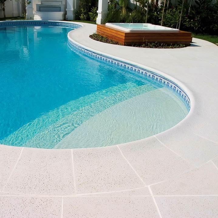Piso para piscina atermica branco Castelatto