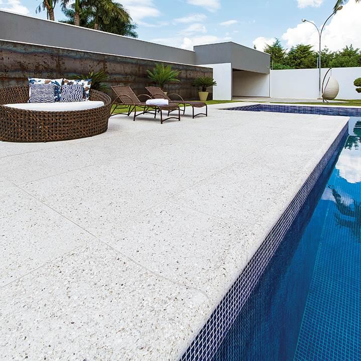Piso para piscina pacific branco Castelatto