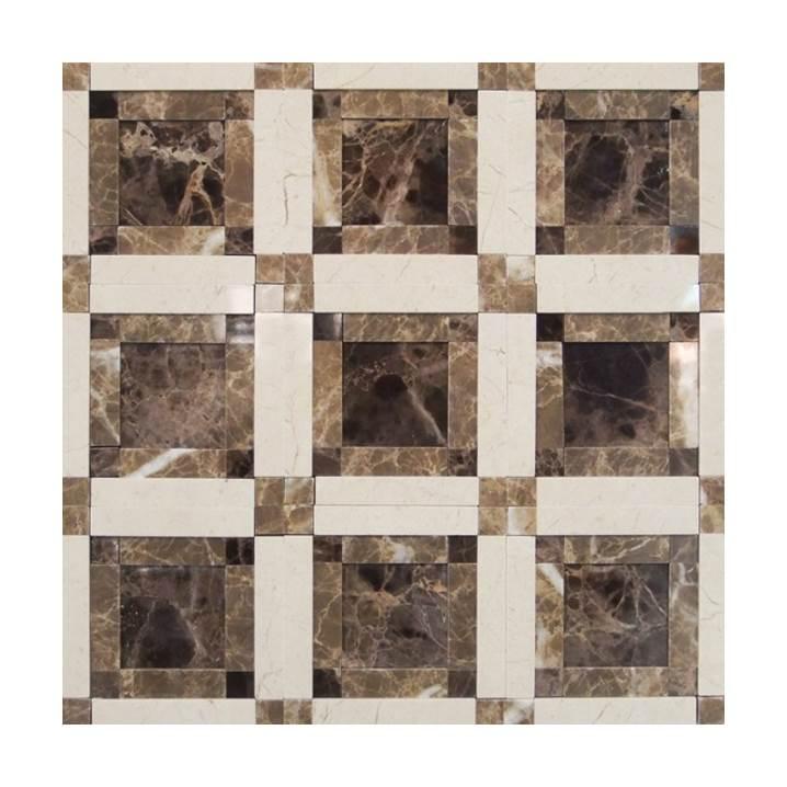 Mosaico-Tessela-Crema-Marfil-Marrom-Imperador-e-Marrom-Light