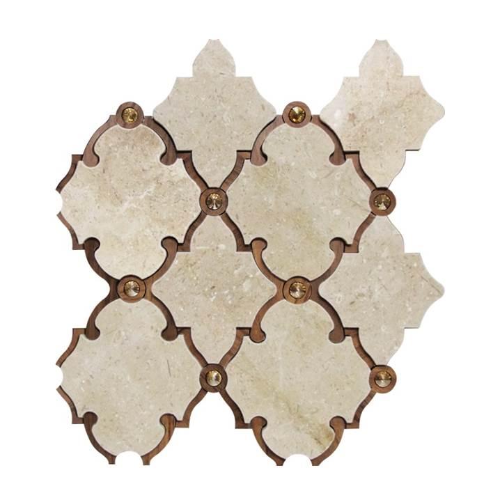 Mosaico-Tessela-Crema-Marfil-Polido-com-madeira