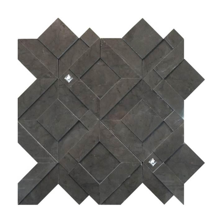 Mosaico-Tessela-Gris-Armani-Polido