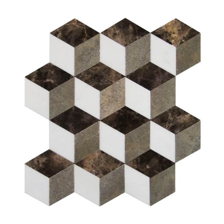 Mosaico-Tessela-Tassos-Gris-e-Marrom-Imperador-Polido