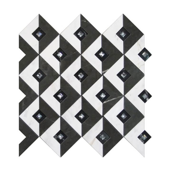 Mosaico-Tessela-Tassos-Gris-e-Nero-Marquina-Polido
