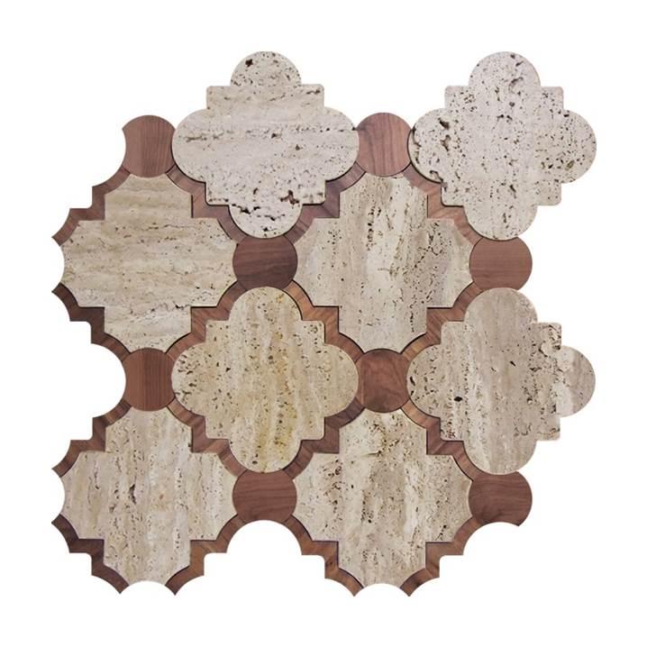 Mosaico-Tessela-Travertino-Bruto-com-Madeira
