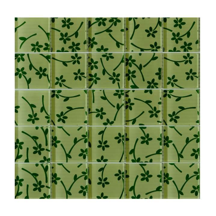 Pastilha-de-vidro-flores-verdes-Glass-Line